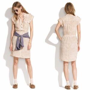 Madewell Silk Shadowspot Shirtdress